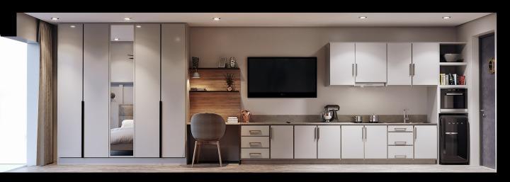 Studio Apartment Elevation Canvas Type