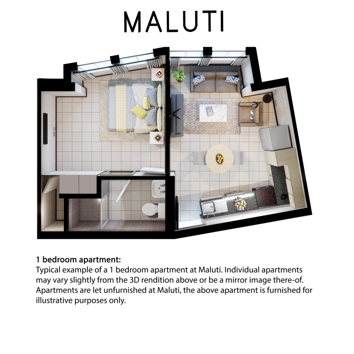 Maluti 1 bedroom flat