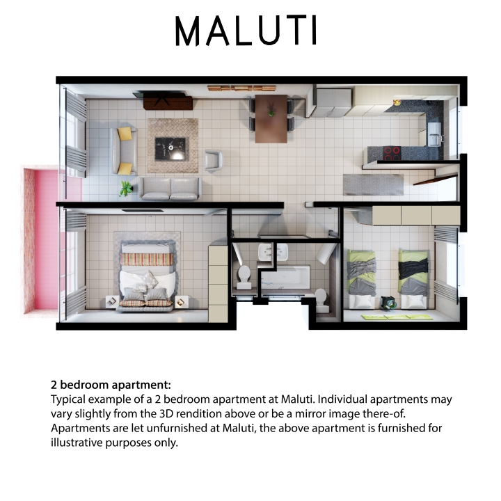 Maluti 2 bedroom 2 bath