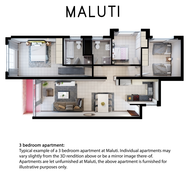 Maluti 3 bedroom 2 bath