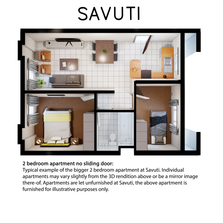 Savuti 2 bedroom no sliding door