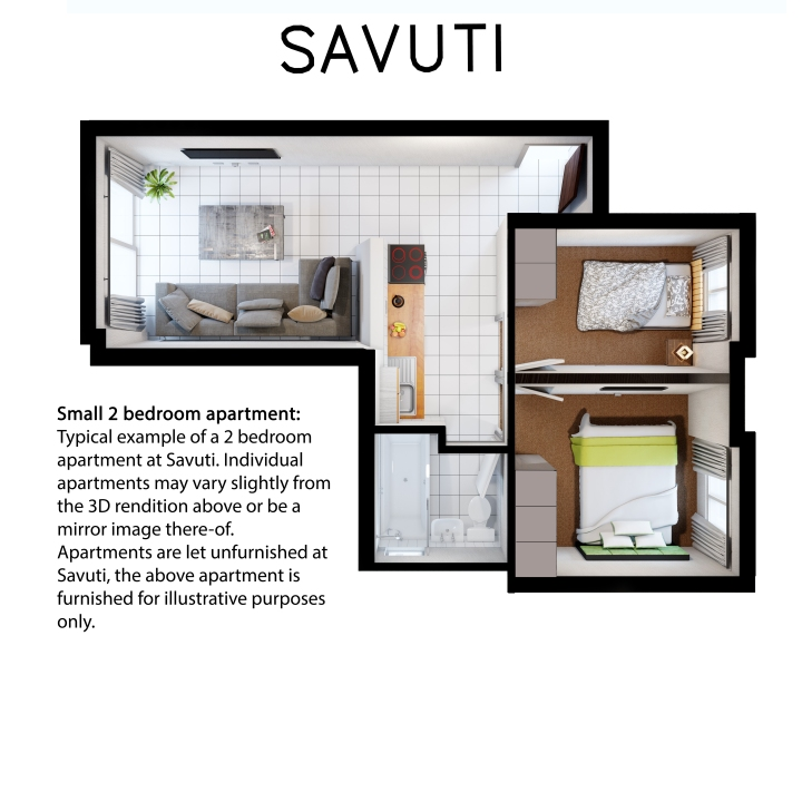 Savuti 2bedroom Flat