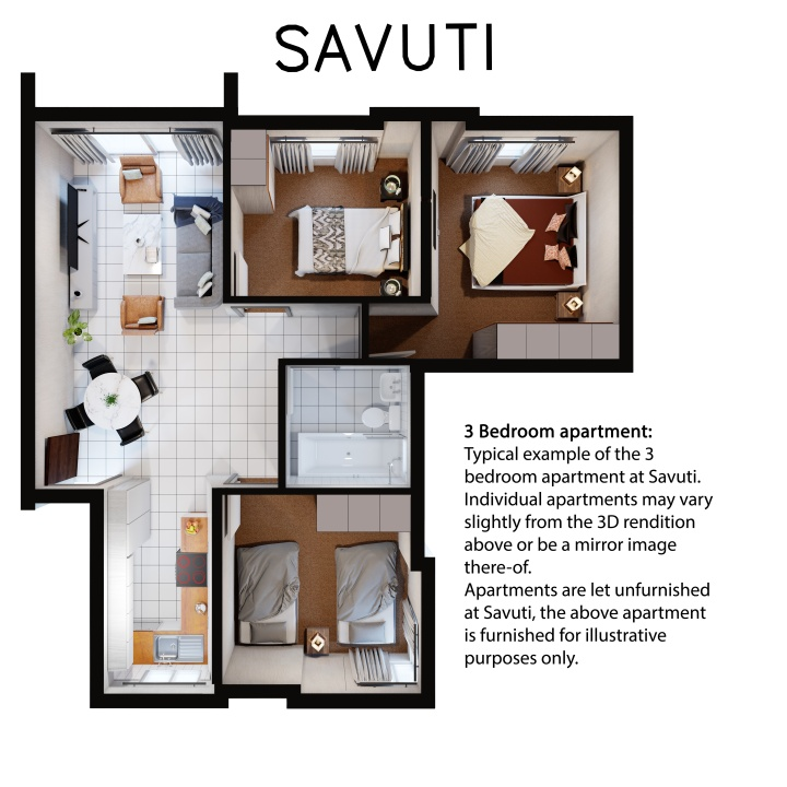 Savuti 3 bedroom flat