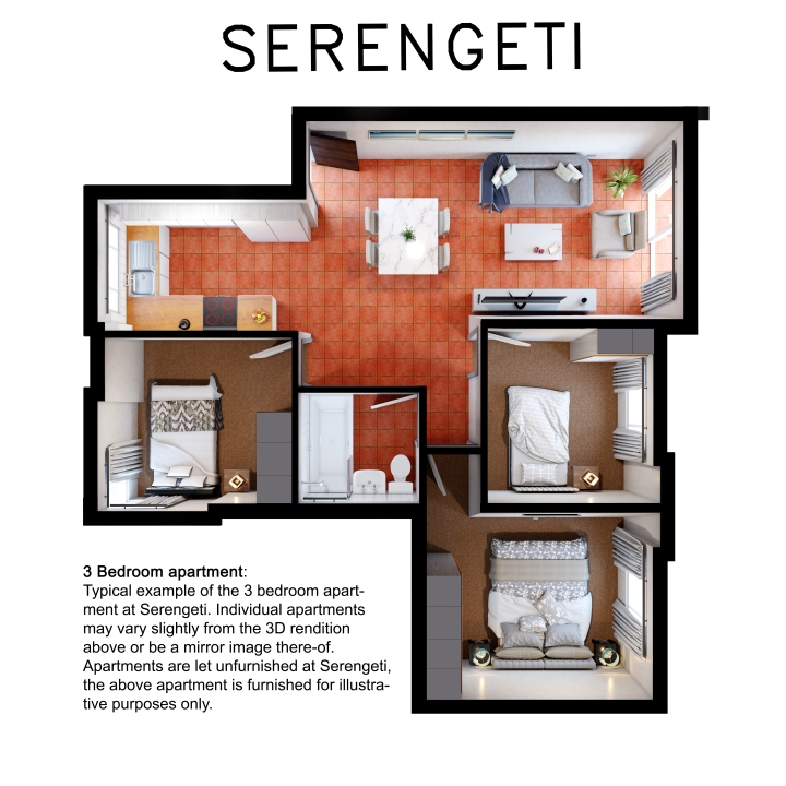 Serengeti 3 bedroom unit high res