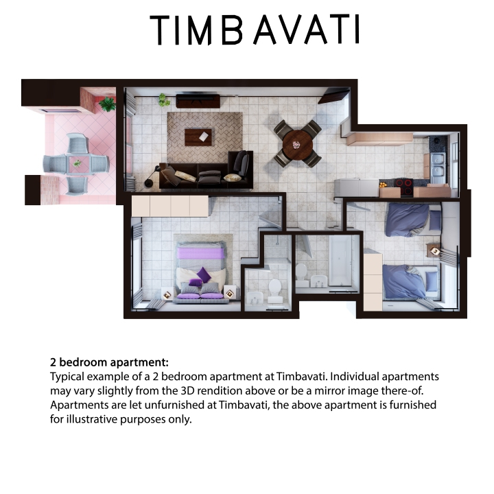 Timbavati 2 bedroom 2 bath