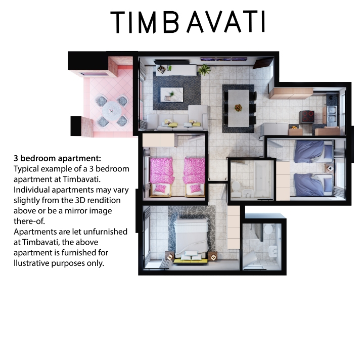 Timbavati 3 bedroom 2 bath
